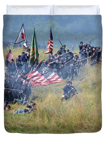 Gettysburg Union Infantry 8963c Duvet Cover