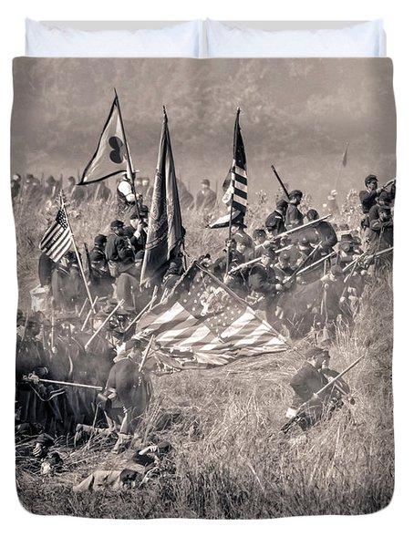 Gettysburg Union Infantry 8963s Duvet Cover