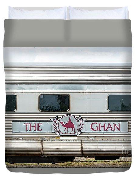 Ghan Train At Alice Springs Duvet Cover