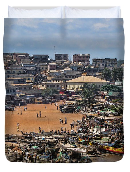 Duvet Cover featuring the photograph Ghana Africa by David Gleeson