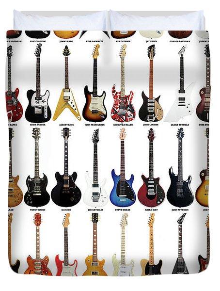 Guitar Legends Duvet Cover