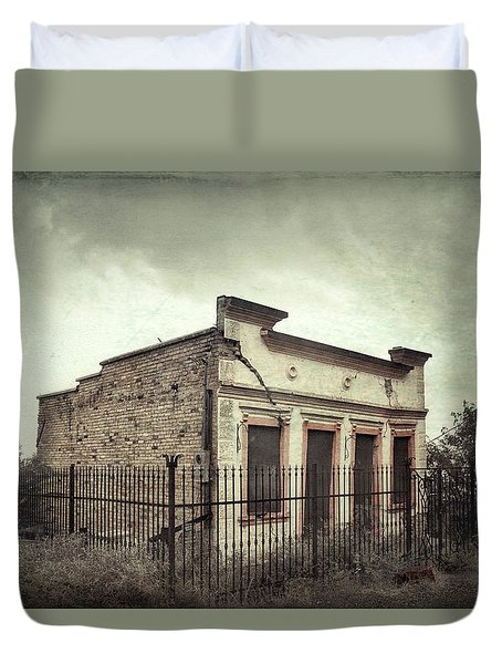 Ghost Cottage Duvet Cover
