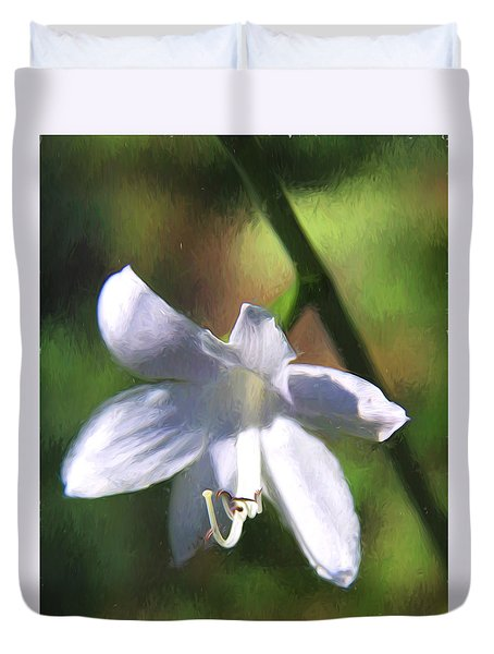 Duvet Cover featuring the photograph Ghost Flower by Susan Crossman Buscho