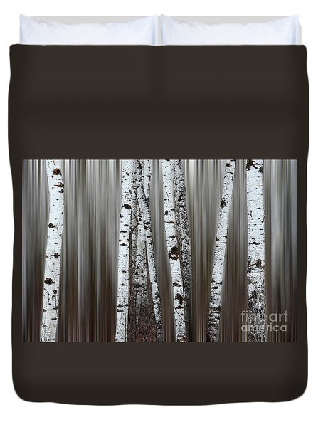 Ghost Forest 1 Duvet Cover by Bob Christopher