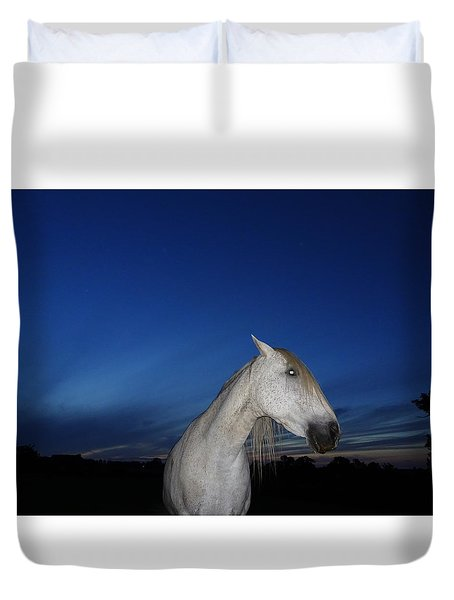Ghost Horse Duvet Cover