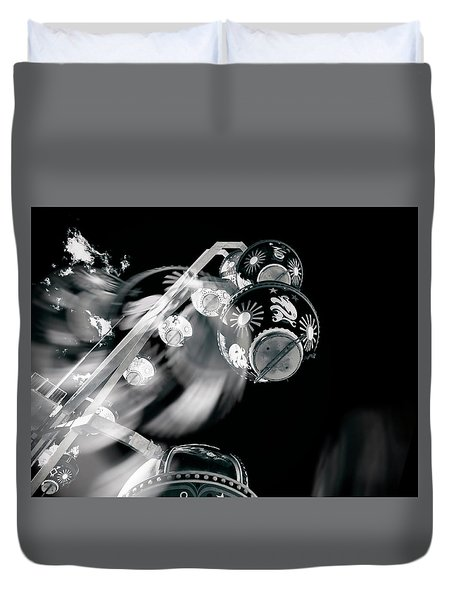 Duvet Cover featuring the photograph Ghost In The Machine by Wayne Sherriff