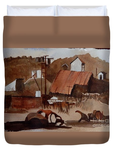 Ghost Mine Duvet Cover
