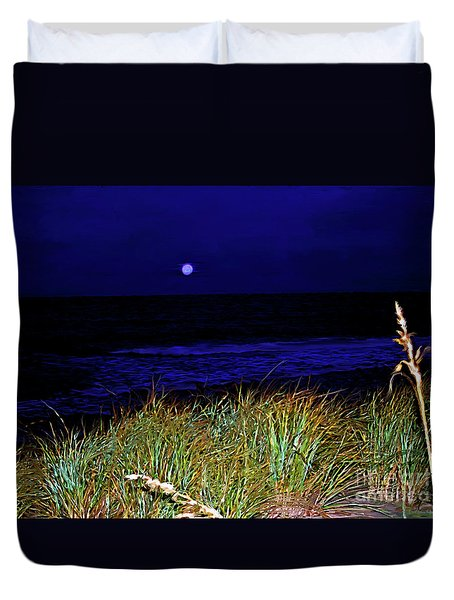 Ghost Moon Duvet Cover