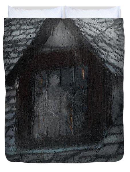 Ghost Rain Duvet Cover by RC deWinter