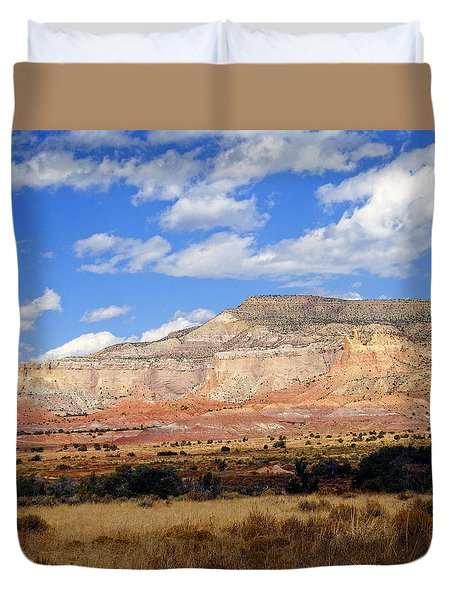 Duvet Cover featuring the photograph Ghost Ranch New Mexico by Kurt Van Wagner
