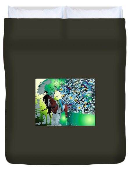 Ghost Riders Duvet Cover