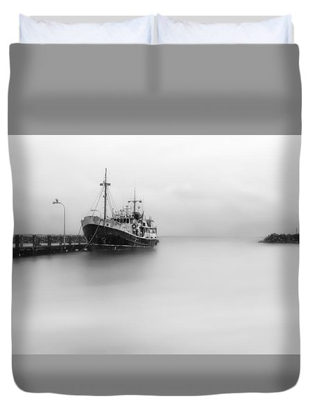 Duvet Cover featuring the photograph Ghost Ship 01 by Kevin Chippindall