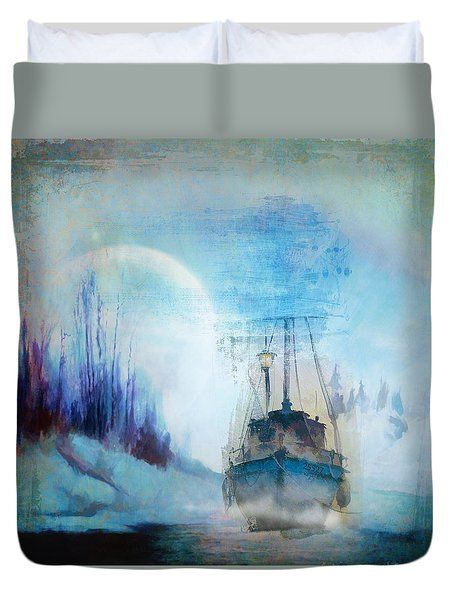 Ghost Ship Duvet Cover by Diana Boyd
