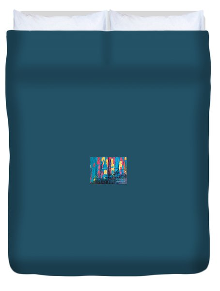 Ghost Ship Duvet Cover by Marcia Dutton