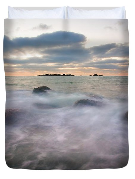 Ghost Tides Duvet Cover by Mike  Dawson