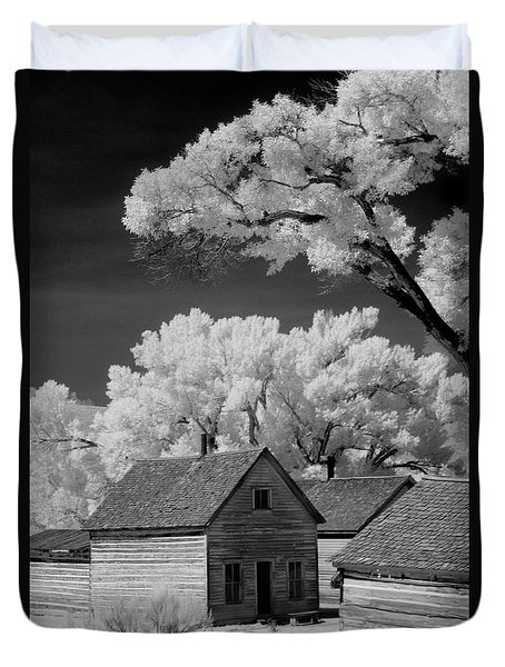 Ghost Town Bannack, Mt  Duvet Cover