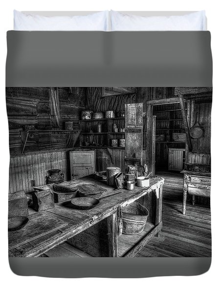 Ghost Town Kitchen Duvet Cover