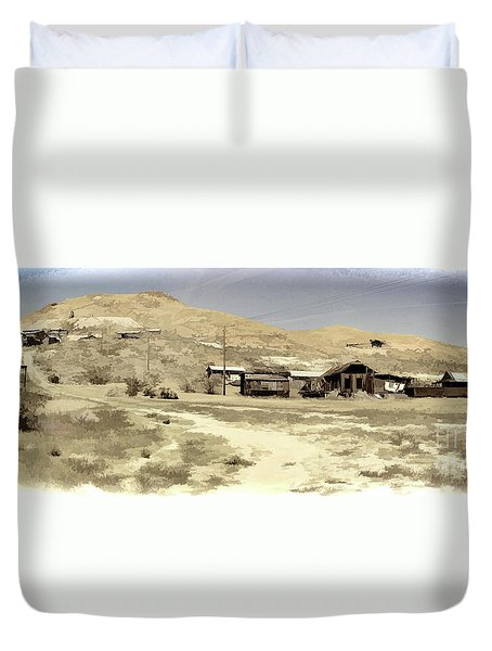 Ghost Town Textured Duvet Cover