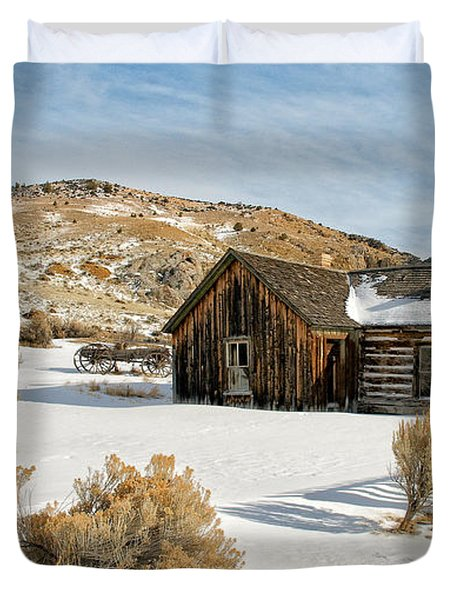 Ghost Town Winter Duvet Cover