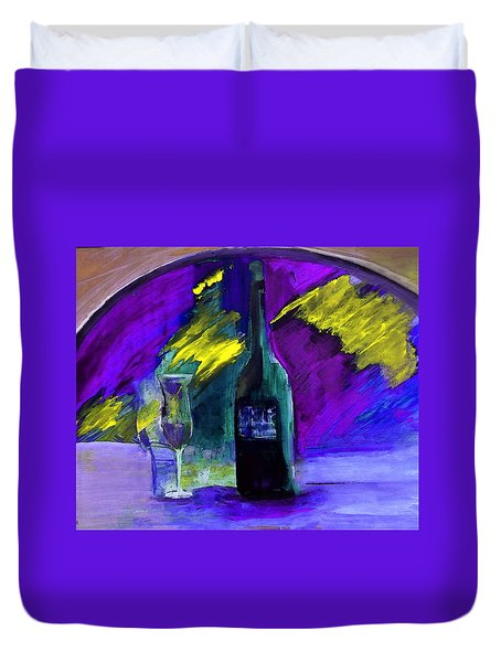 Duvet Cover featuring the painting Ghost Wine by Lisa Kaiser