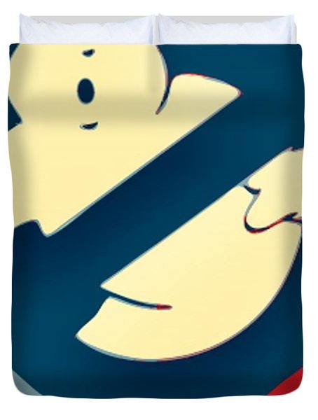 Ghostbusters Duvet Cover by Paul Van Scott