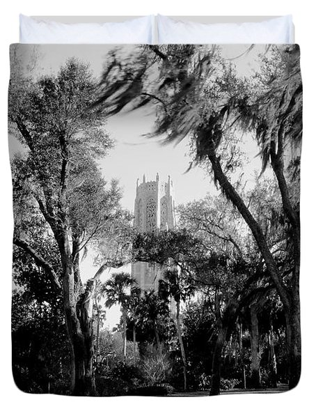 Ghostly Bok Tower Duvet Cover by David Lee Thompson