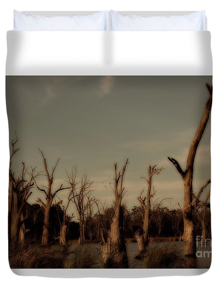 Ghostly Trees Duvet Cover by Douglas Barnard