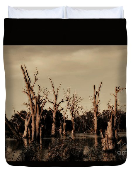 Ghostly Trees V2 Duvet Cover by Douglas Barnard