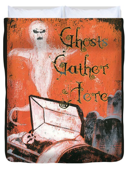 Ghosts Gather Here Duvet Cover