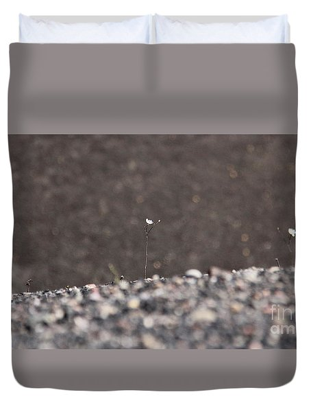 Duvet Cover featuring the photograph Ghosts In The Gravel by Suzanne Oesterling
