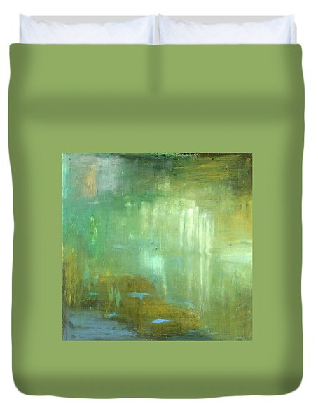 Duvet Cover featuring the painting Ghosts In The Water by Michal Mitak Mahgerefteh