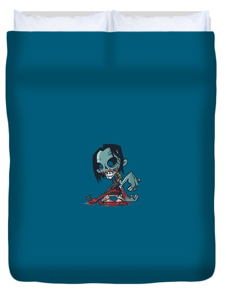Ghoul T-shirt Duvet Cover by Herb Strobino