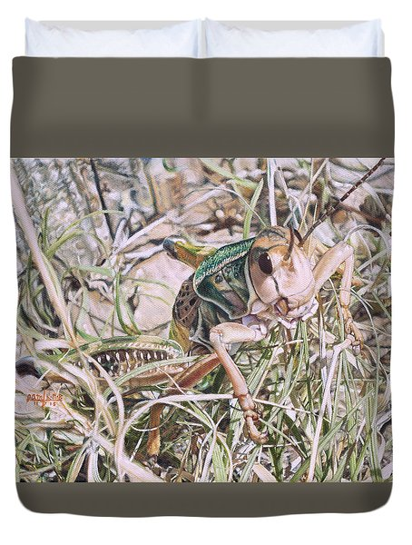 Giant Grasshopper Duvet Cover