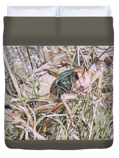 Giant Grasshopper Duvet Cover by Joshua Martin