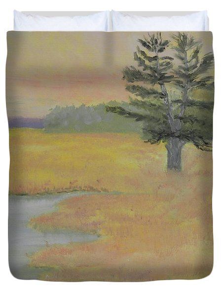 Giant In The Marsh Duvet Cover
