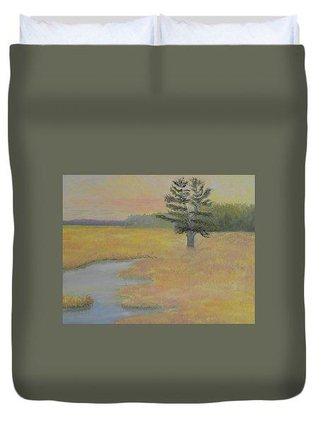 Giant In The Marsh Duvet Cover