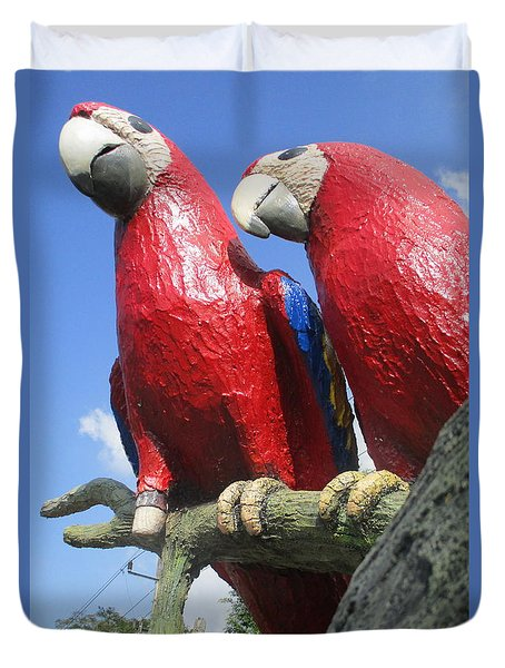 Giant Macaws Duvet Cover by Randall Weidner