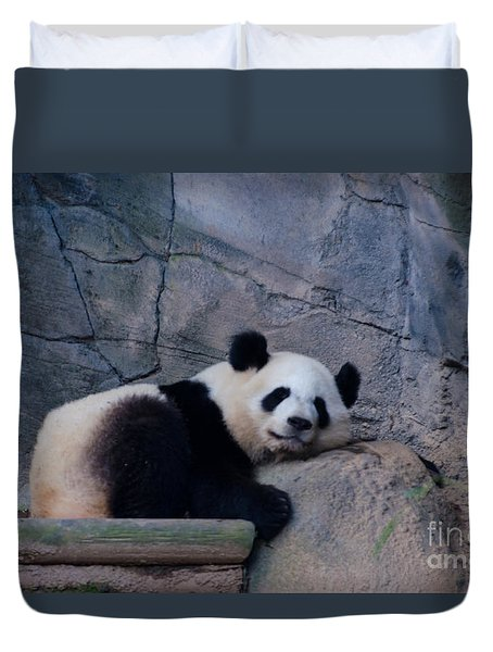 Giant Panda Duvet Cover by Donna Brown