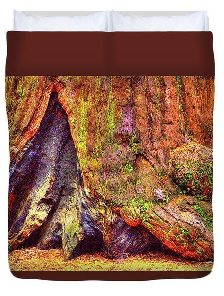 Giant Sequoia Base With Fire Scar Duvet Cover
