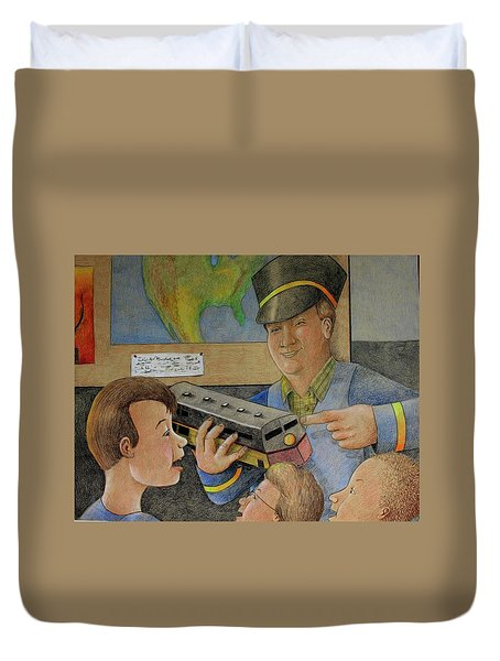 Giant Shows The Toy Train Duvet Cover