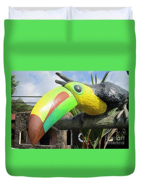 Giant Toucan Duvet Cover by Randall Weidner