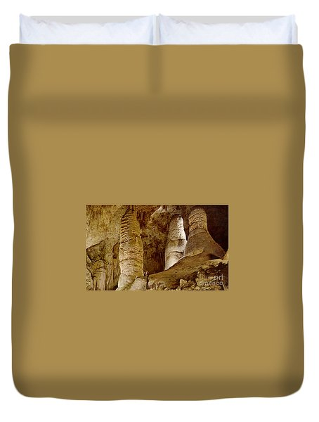 Giant Twin Domes At Carlsbad Caverns  Duvet Cover by Ruth  Housley