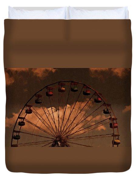 Giant Wheel Duvet Cover by David Dehner