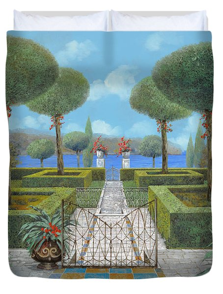 Giardino Italiano Duvet Cover by Guido Borelli