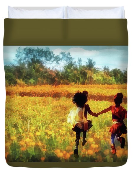 Gia's Field Of Dreams Duvet Cover