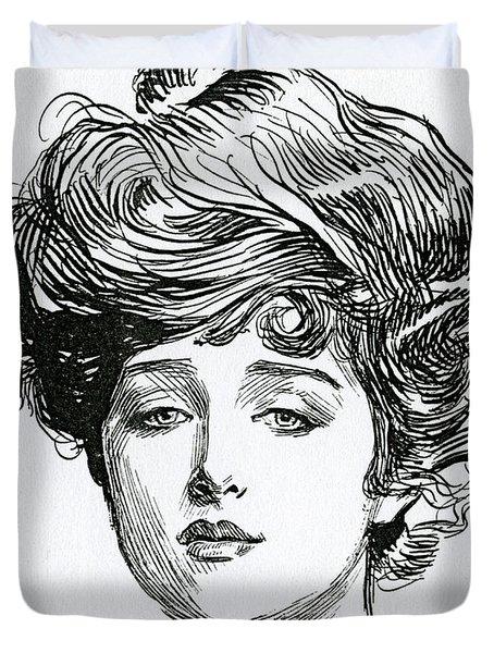 Gibson Girl Duvet Cover