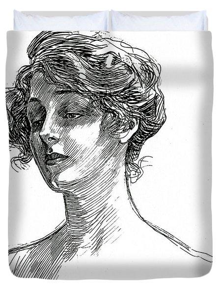 Gibson Girl Circa 1902 Duvet Cover