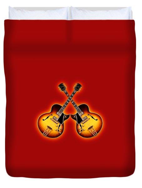 Gibson Jazz Duvet Cover by Doron Mafdoos