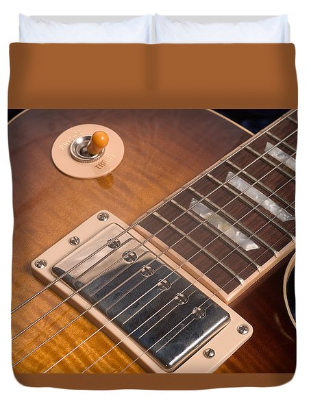 Gibson Les Paul Guitar By Gene Martin Duvet Cover