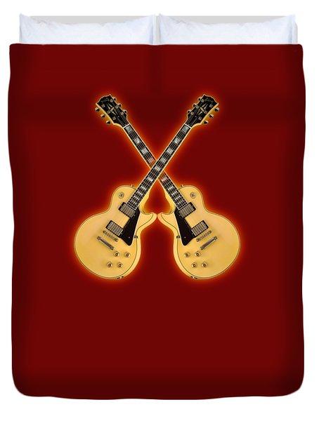 Gibson Randy Rhoads Les Paul Custom Duvet Cover by Doron Mafdoos